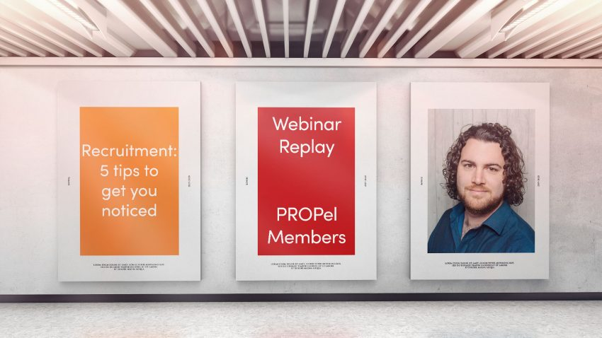 Webinar: 8th December 2020 Recruitment: 5 tips to get you noticed