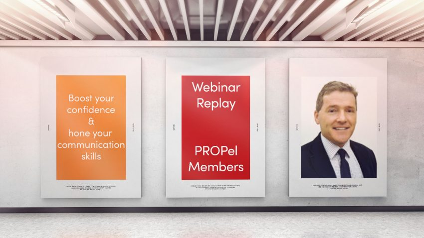 This PROPel webinar took place on Tuesday 17th December with Rupert Wesson from Debretts.